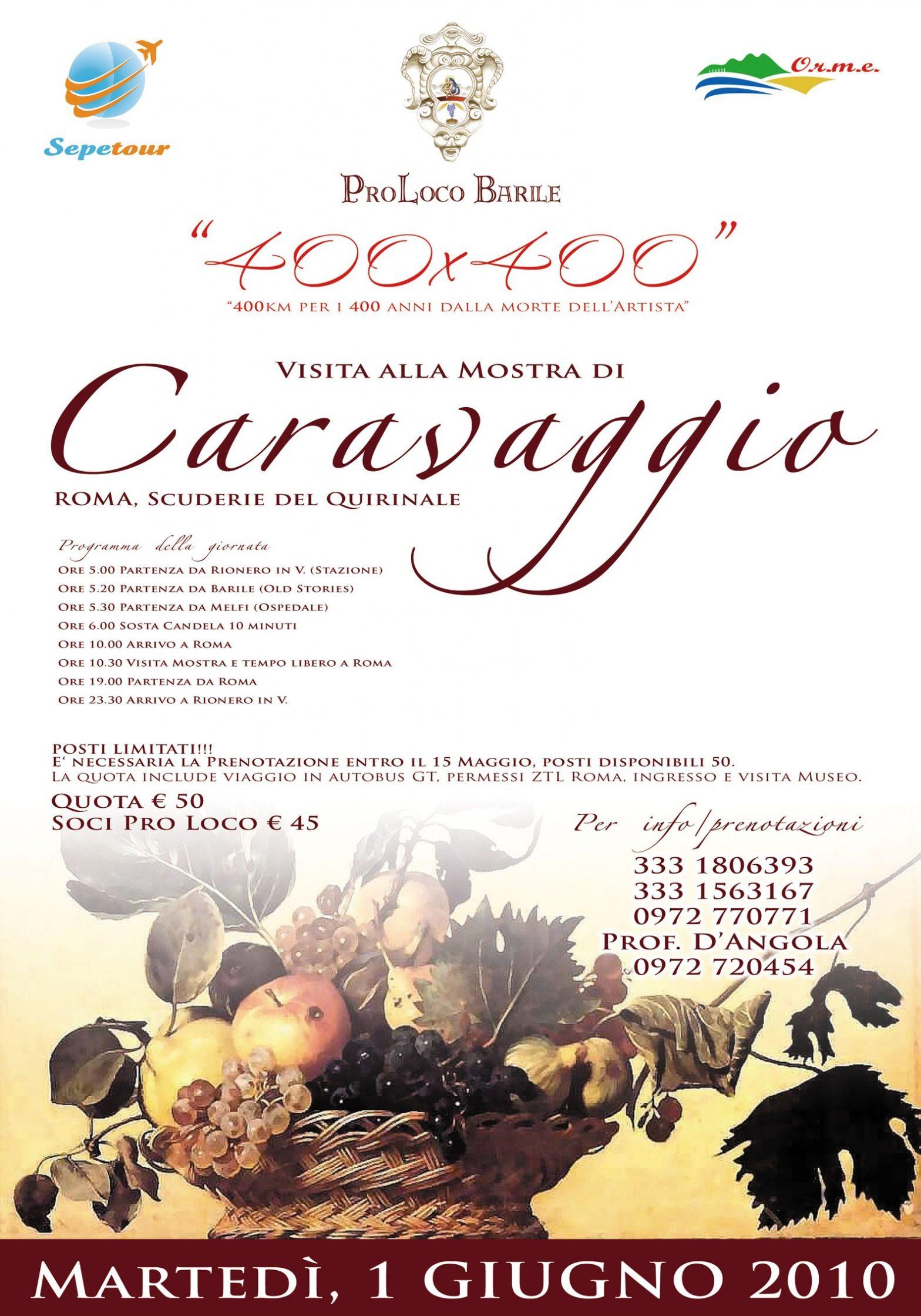 Un viaggio a Roma con 400×400 Caravaggio